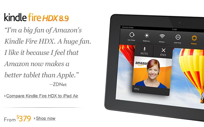 Screenshot from Amazon Storefront using my quote